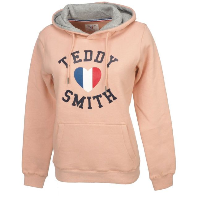 Teddy Smith Hooded L Sofrench Cap Sweat Rose Capuche rrqAvxpdw1