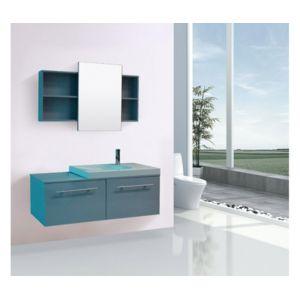 rocambolesk magnifique meuble salle de bain complet fiji gris meuble 1 vasque 1 miroir bleu. Black Bedroom Furniture Sets. Home Design Ideas