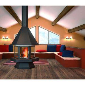 focgrup chemin e ch56 anthracite centrale porte encadrement inox satin pas cher achat. Black Bedroom Furniture Sets. Home Design Ideas