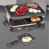 Marque Generique - Mini appareil à raclette avec barbecue - Grill et plancha pour 4 personnes