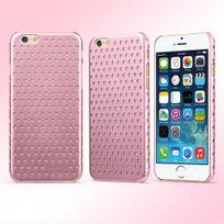 Usams - Coque rigide motifs étoilés pour iPhone 6 coloris rose métallisé