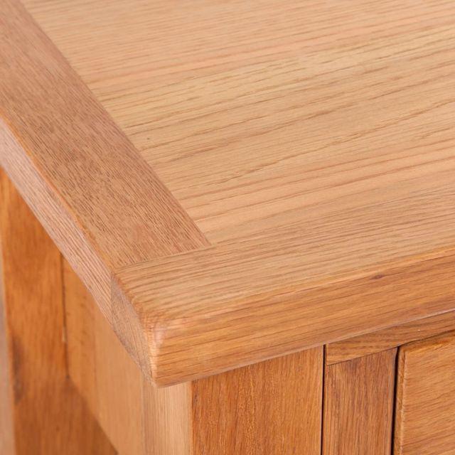 Icaverne - Bouts de canapé gamme Table console avec 2 tiroirs 83 x 30 x 73 cm Chêne