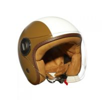 Star Motors - Casque Jet Strada Deco Marron