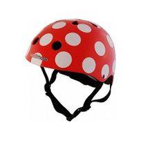 Kiddimoto - Casque Vélo et Trottinette Red Dotty Small
