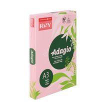 Rey - Ramette papier couleur Adagio couleurs pastel A3 80 gr - 500 feuilles - rose