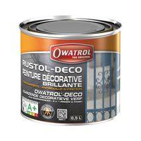 Owatrol - Peinture décorative - anti-rouille - noir - 0.5 L