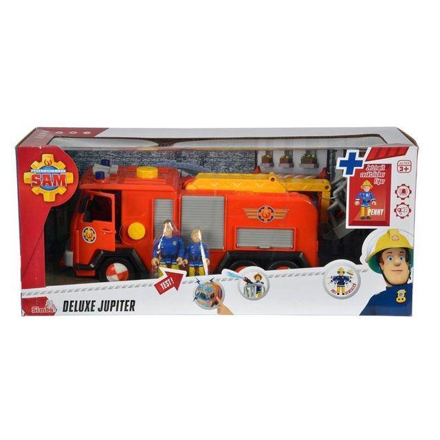 Simba Toys 109257661 Pompier Sam - Le camion de pompiers Jupiter avec 2 personnages