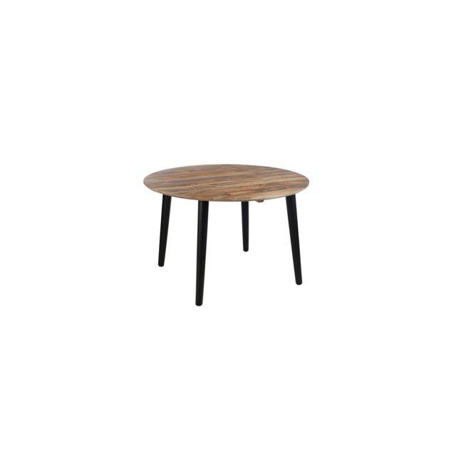 hellin table a manger ronde retro chene moyen 120cm x 120cm x 79cm non extensible pas. Black Bedroom Furniture Sets. Home Design Ideas