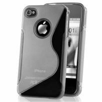 Vcomp - Housse Etui Coque souple silicone gel motif S-line pour Apple iPhone 4/ 4S/ 4G - Transparent