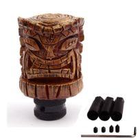 Universel - Levier de vitesse en résine tiki look bois pommeau hawaii