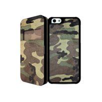 I-PAINT - Coque folio ''Double Case'' pour iPhone 6 - Camouflage