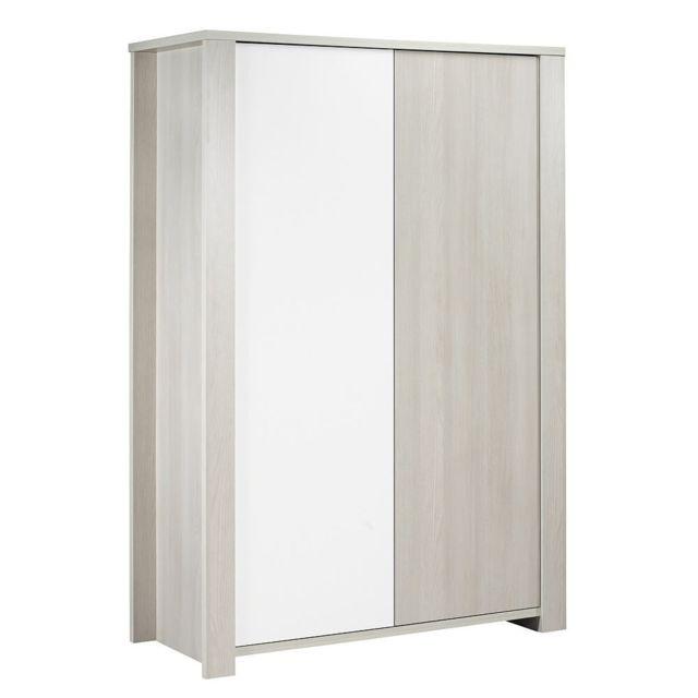 sauthon armoire 2 portes new opale sans motif meubles. Black Bedroom Furniture Sets. Home Design Ideas