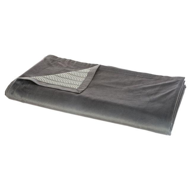 atmosphera jet de lit 140x220 cm spirit gris fonc 140cm x 220cm pas cher achat vente. Black Bedroom Furniture Sets. Home Design Ideas