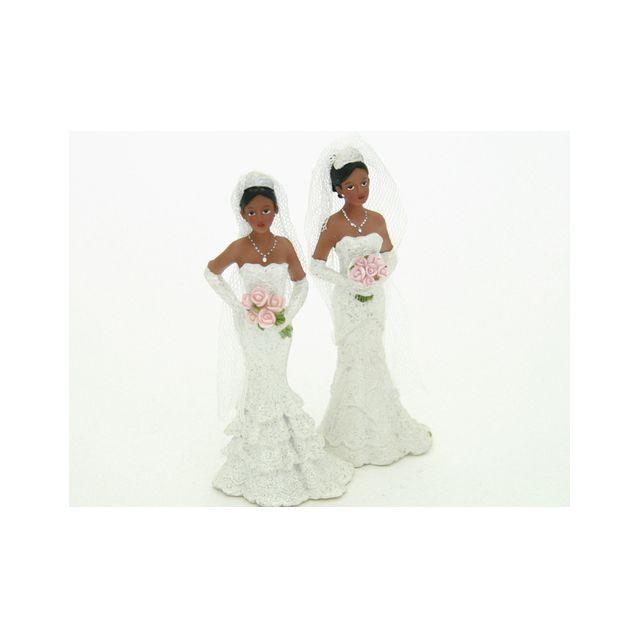 Figurine mariée noir seule 11 cm
