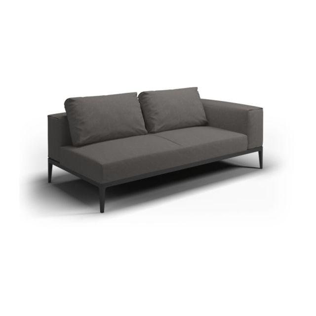 Gloster Sofa Grid - granite - Acier époxy gris