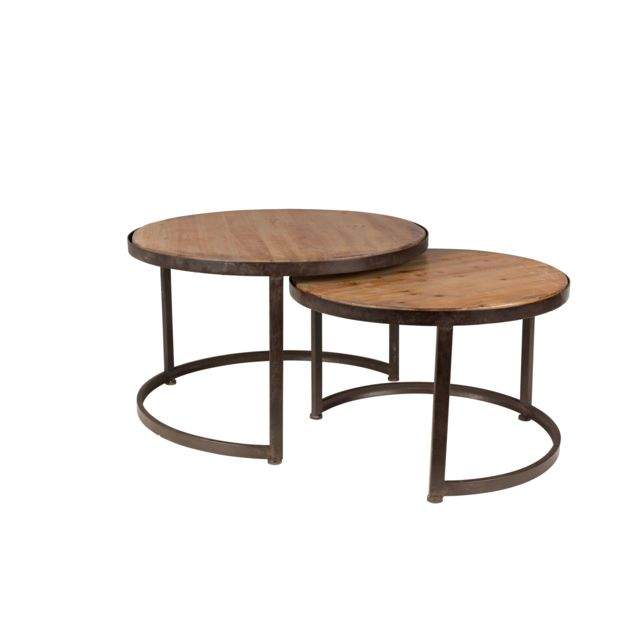 Couleurs variées b9aaa 079b4 Lot de 2 table basse ronde Jack - Boite à design