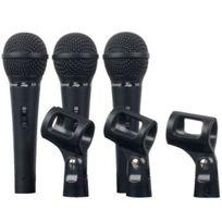 Fame - Set de 3 Micros Chant/ Instrument en Valise avec Supports