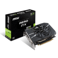 MSI - Carte Graphique GeForce GTX 1070 AERO ITX 8G OC DDR5