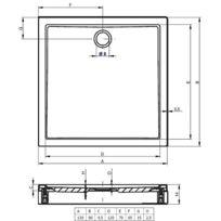 receveur de douche 150x80 achat receveur de douche 150x80 pas cher rue du commerce. Black Bedroom Furniture Sets. Home Design Ideas