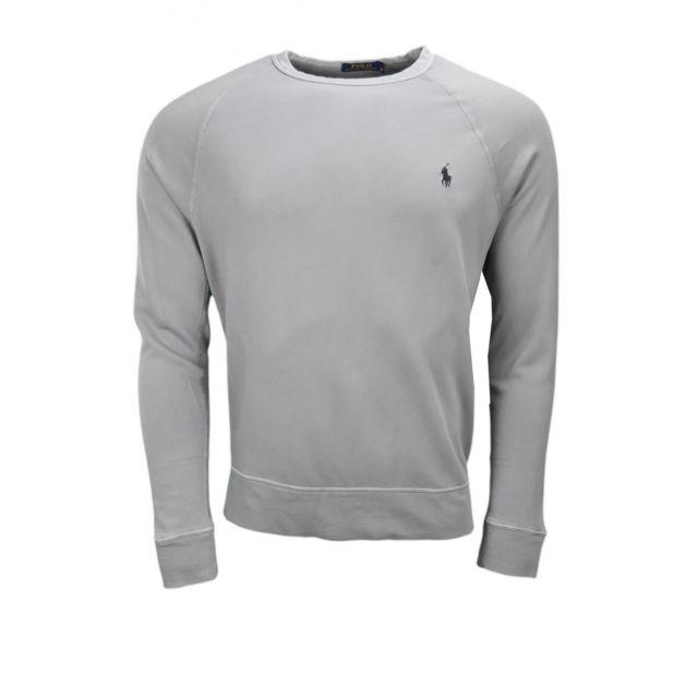 Ralph Lauren - Sweat en coton éponge gris pour homme - pas cher ... 535fa415745