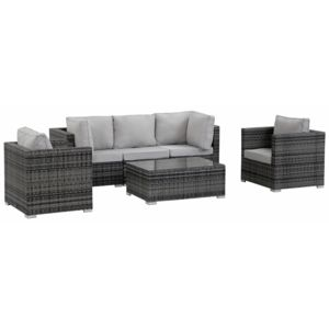soldes habitat et jardin salon de jardin modulable en r sine tress e panama florida gris. Black Bedroom Furniture Sets. Home Design Ideas