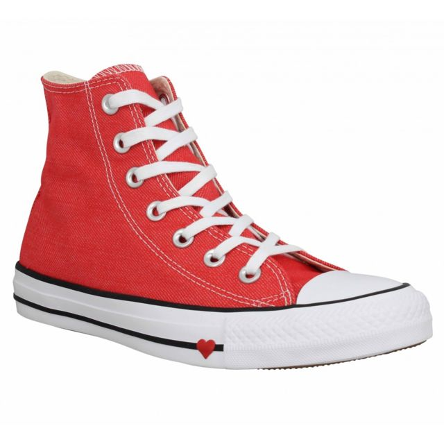 9c14d08a151 Converse - Chuck Taylor All Star Hi toile Femme-40-Red - pas cher Achat    Vente Baskets femme - RueDuCommerce
