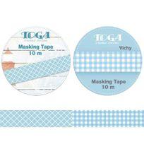 Autre - Voici un kit de 2 masking tapes : Masking tape vue sur mer et Masking tape vichy bleu repositionnables - Longueur 10 m