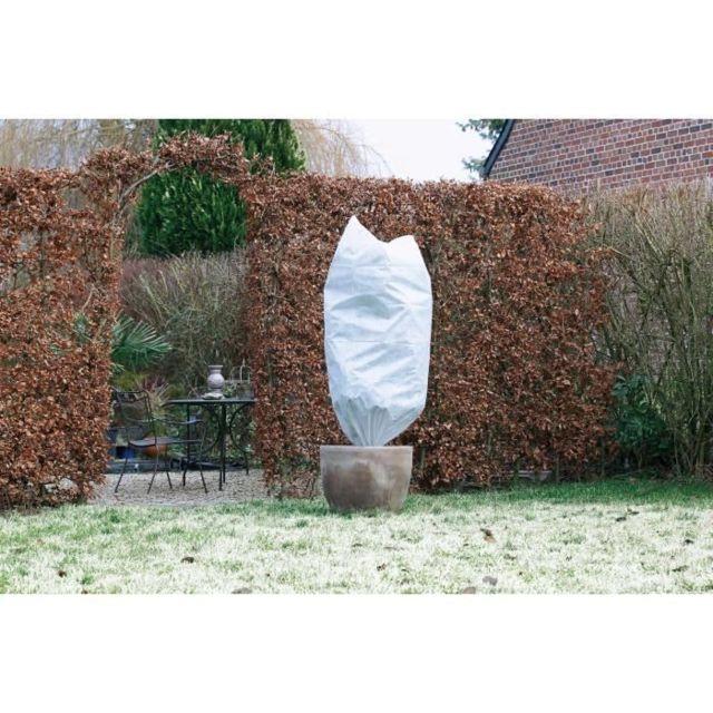 PAILLAGE - VOILE - PROTECTION CULTURE Lot de 3 housse d'hivernage 50 g/m² - Ø 50 cm x 1 m - Blanc