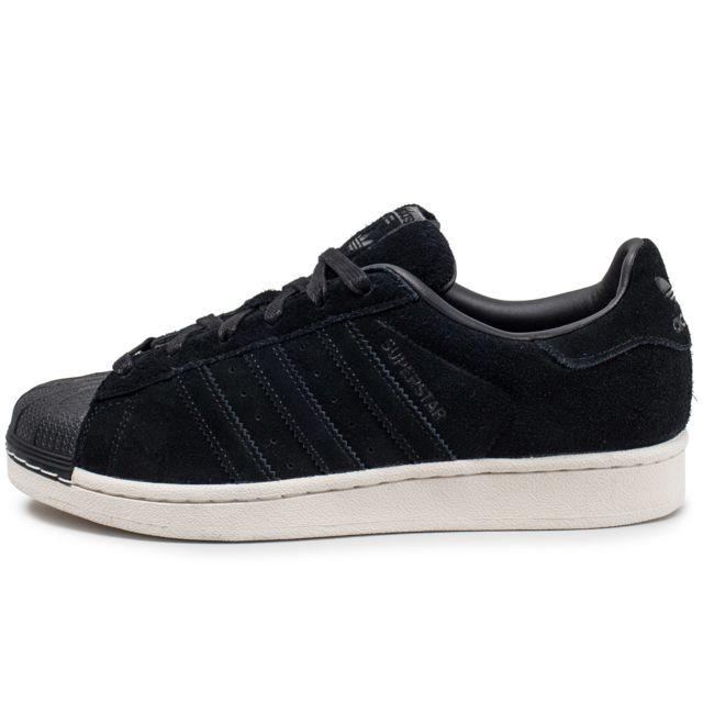 Adidas Superstar Suede Noire pas cher Achat Vente
