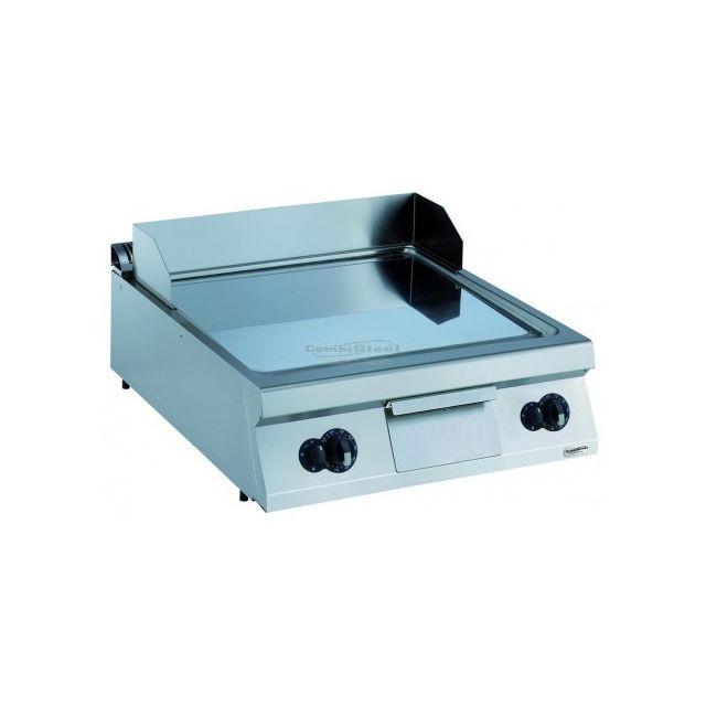 Combisteel Plancha à gaz chromée lisse - Série 900 Chromé 900