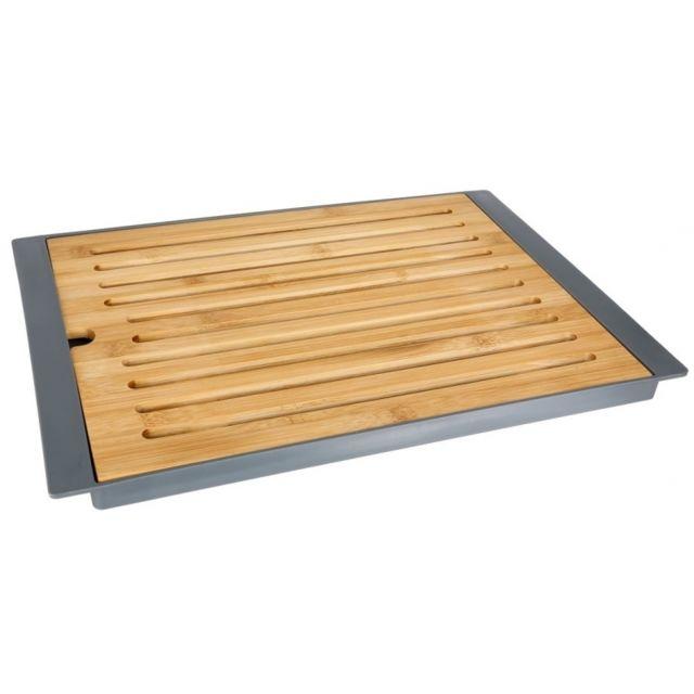 Planche à pain avec plateau - Gris - Bambou