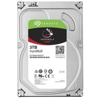 SEAGATE - Disque dur interne IronWolf 3 To 3.5'' 7200 RPM 64 Mo Serial ATA 6 Gb/s pour NAS