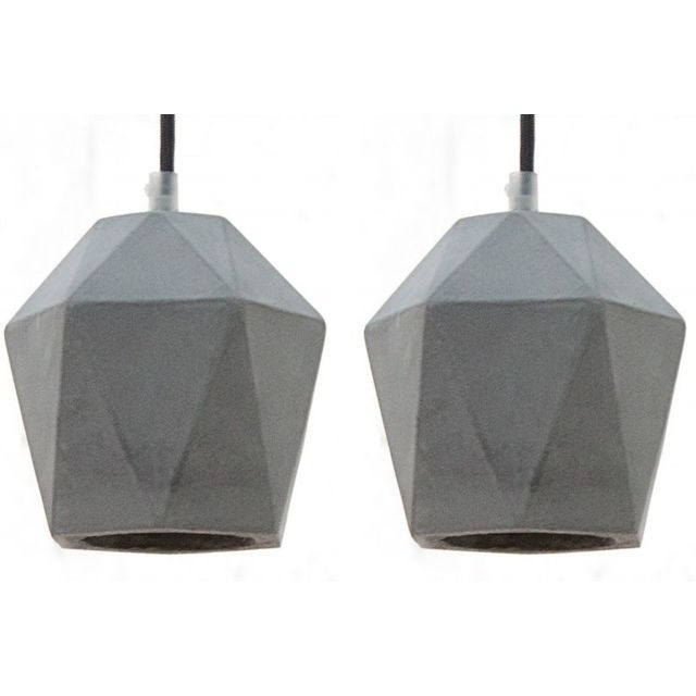 Comforium Suspension en ciment coloris gris