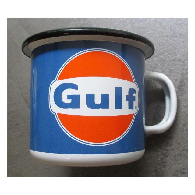 Universel Mug gulf logo orange en email tasse à café emaillée bar