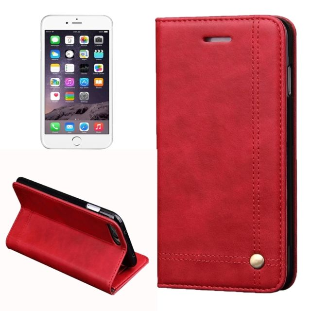 coque rouge portefeuille iphone 8