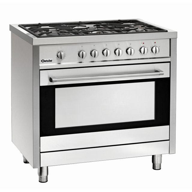bartscher cuisiniere 5 feux avec four electrique a. Black Bedroom Furniture Sets. Home Design Ideas
