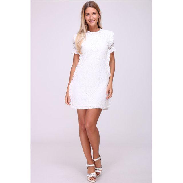Robe blanche brodée FOLIANGEL