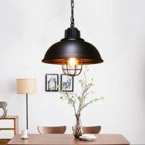 Lampe suspendue Luminaire Salon E27 Pendentif Lumière Intérieur Maison Décoration Industrielle Rétro Suspension