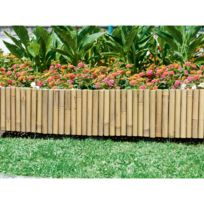 Windhager - Bordure en bambou 100x20 cm