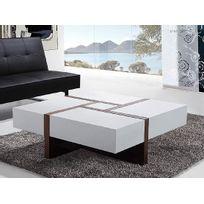 Beliani - Table basse - table de salon - 100x100 cm - blanc - Evora
