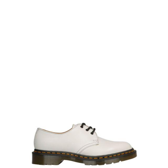 Comme Des GarÇONS Comme Des GarÇONS Femme Csh013WHITE Blanc Cuir Chaussures À Lacets