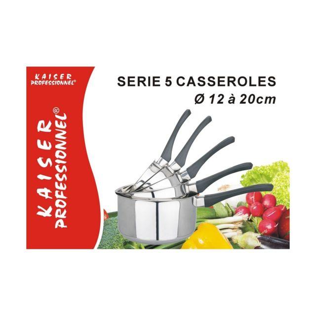 Kaiser - Serie 5 Casseroles Inox / Bakelite Professionnel