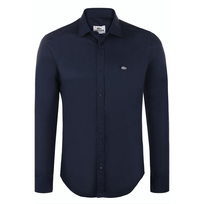Lacoste - Chemise Slim Fit Bleu Marine Ch8766 Taille Xxl