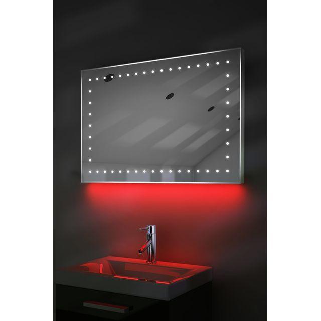 diamond x collection miroir de toilette et rasage led lumi re d ambiance anti bu e capteur. Black Bedroom Furniture Sets. Home Design Ideas