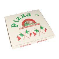 """Papstar - Boîtes à Pizza en cellulose """"pure"""" rectangulaire 28 cm x 28 cm x 3 cm - 15195"""