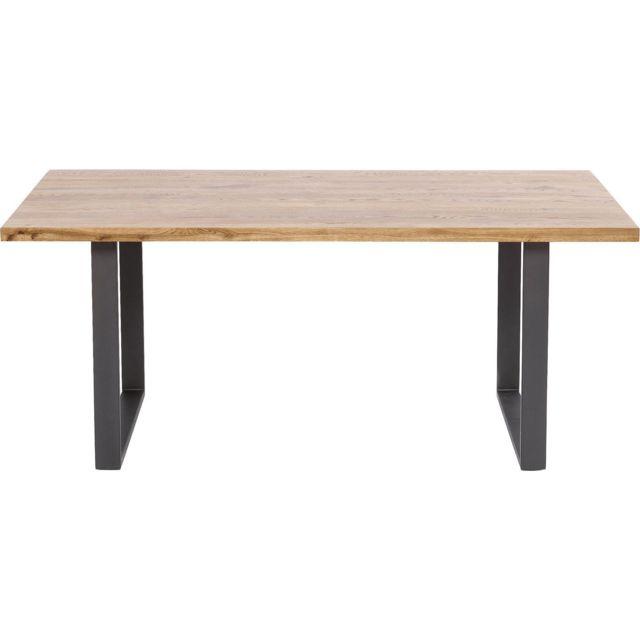 Karedesign Table Jackie chêne acier 200x100cm Kare Design