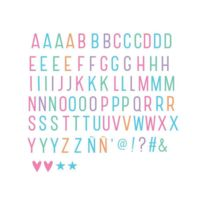 A Little Lovely Company - Set de 85 Lettres Pastel pour Lightbox