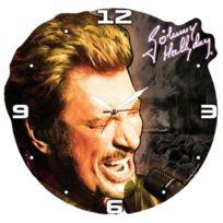 Johnny Halliday - Horloge bois Johnny Hallyday black