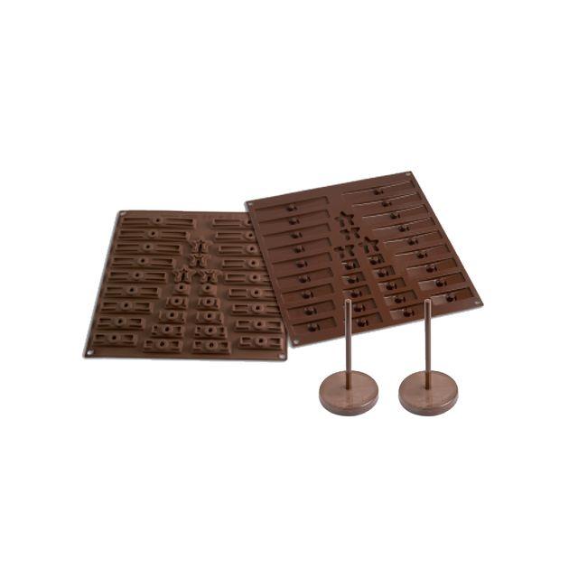 Silikomart Moule silicone sapin en chocolat