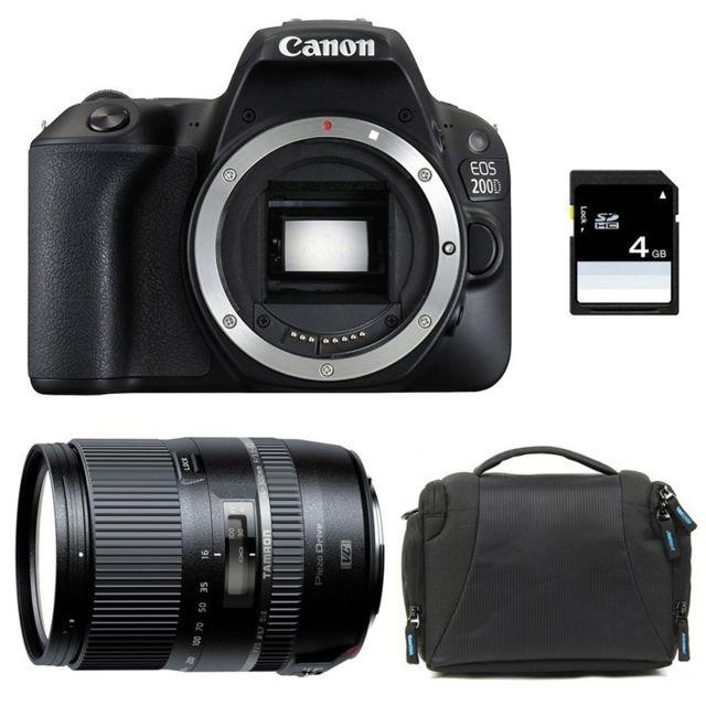 Canon Eos 200D + Tamron 16-300 f/3.5-6.3 Di Ii Vc Pzd Garanti 3 ans + Sac + Carte Sd 4Go